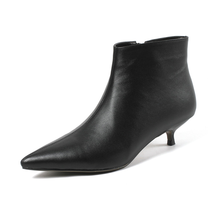 women 2018 <strong>boots</strong> heels fashion ankle <strong>boots</strong> top quality winter pointed toe