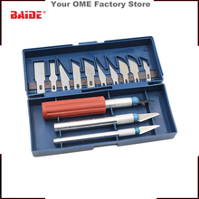 New Hot DIY Making 13pcs Multifunction Precision Knife Grave Scribing Razor Tool Set With Case,pocket knife/folding knife