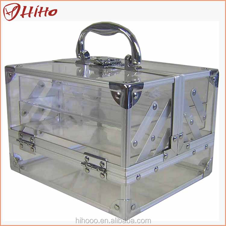 Good-looking Beauty Hair Stylist Acrylic Train Cases For Makeup