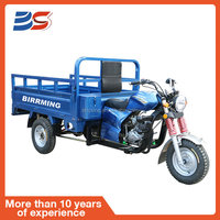 Blue Adults Cargo 4stroke Chinese Three Wheel Motorcycle