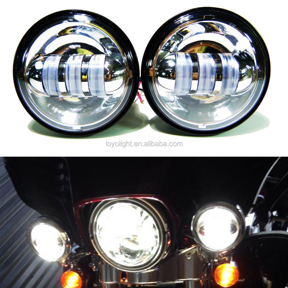 White color 4.5inch 30w LED Fog Lights Daymaker Passing Auxiliary Lamp for Harley Motorcycle