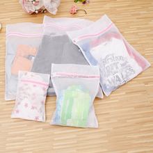 J2014-04 Hot sale portable travel bra mesh travel printed Foldable white storage bag