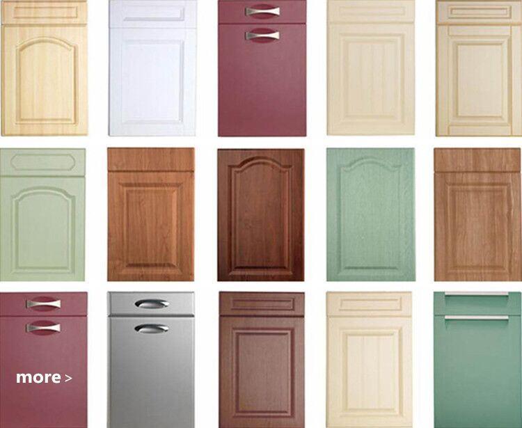 Wholesale plastic kitchen cabinet set pvc wood grain for Cheap kitchen cabinets sets
