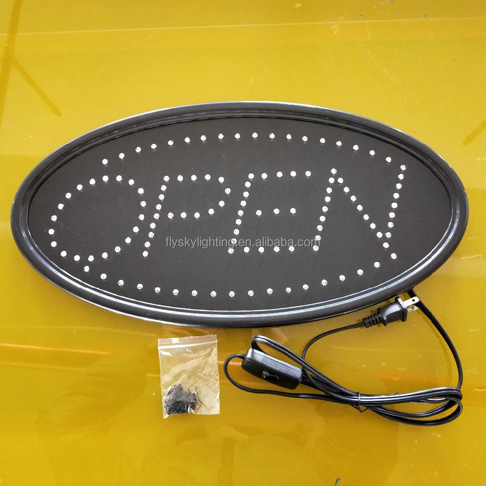 LED Business OPEN SIGN Oval with <strong>size</strong> 48cm x 25cm 19&quot;<strong>x10</strong>&quot; for shop advertising