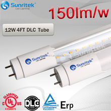 150Lm/W DLC T8 Led Tube Fluorescent Retrofit Lamp
