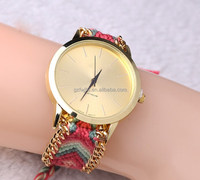 Hot selling misanga band ladies wristwatch women gold face colorful watch