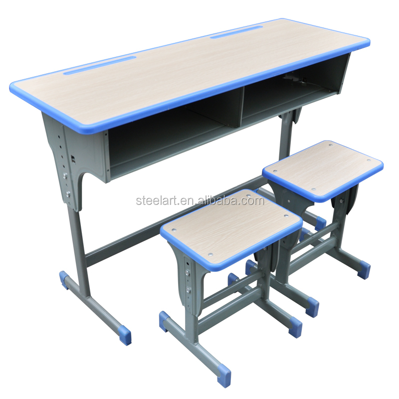 Student study usage desk and chair set adjustable sit - Student desk and chair set ...