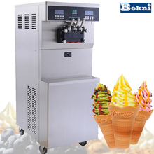 Double cylinder soft serve ice cream mix in the store with small capacity