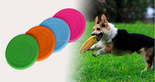 Wholesale 18CM Silicone <strong>Pet</strong> Frisbee Toys Dog <strong>Training</strong> Frisbee Disc Puppy Cat Flying Saucer Free shipping