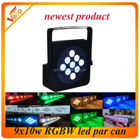 par 9x10w rgbw/rgbwa/rgbwa+uv led rgbw flat light best selling factory cheap price in guangzhou