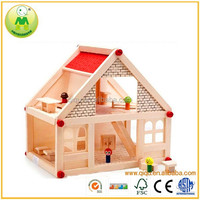 Big Doll Wooden Play House Toy For Children