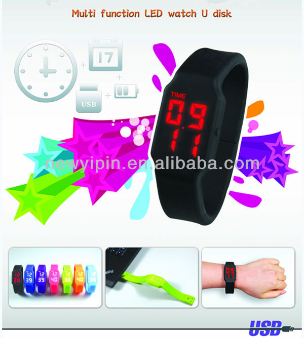 Multi Function Jorry's LED Watch USB Disk
