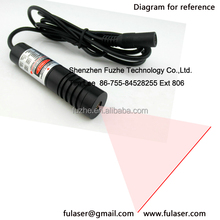 FU650AL200-FGD16 16*70mm adjust and fixed focus 5-24VDC 200mw laser alignment, laser line generator