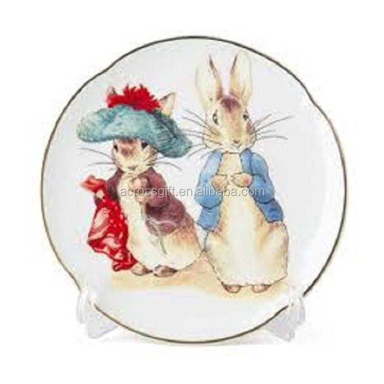 porcelain Peter Rabbit & Benjamin Bunny-Porcelain Wall Decorative Plate-Reutter