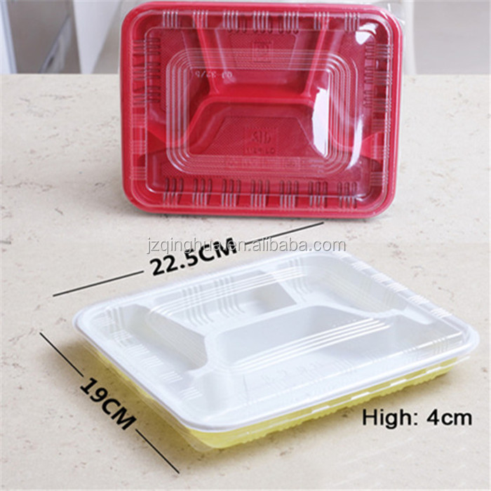 High temperature eco-friendly disposable biodegradable plastic divided lunch tray