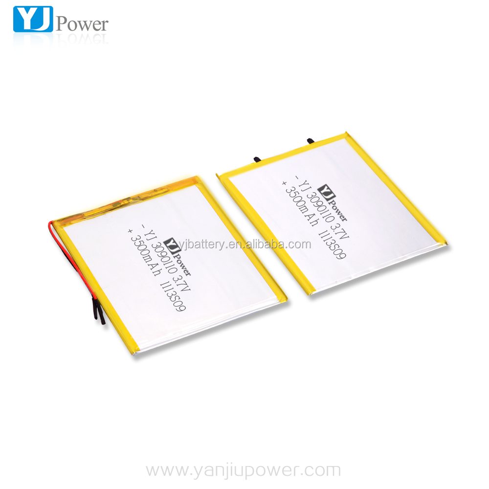 2017 Factory Customized high capacity lipo flat rechargeable lithium polymer battery 3.7v 3500mah for GPS, digital camera Gps