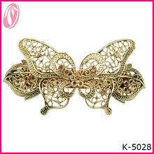 African Butterfly Ladies' Fancy Metal Jaw Hair Clips Classical