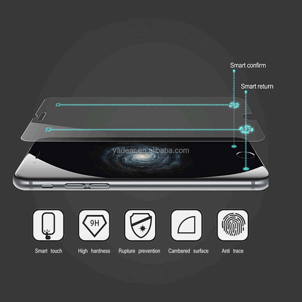 mirror smart tempered glass screen protector for iPhone6 9H 0.3mm mirror tempered glass screen protector for iphone6+