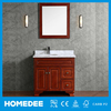 carrara marble top sing sink solid wood modern bathroom vanity cabinet