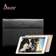 Luxury flip smart black leather rotatable case bag for ipad pro case