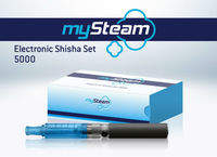 mySteam Electronican Shisha Set 5000 Blue E Hookah Electrical Cigarette German Quality Urban Style My Steam