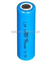 li-ion rechargeable battery 14500 li-ion battery 3.7v 1000mah