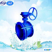 metal seated ASME 18'' ajustable butterfly valve