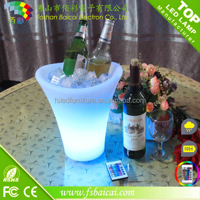 LED Beer RGB Color-Changing Flashing Light ice Pail Wine ice Buckets