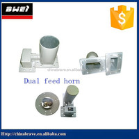 Dual Feed Horn for C band project use LNB together with dish antenna