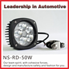 Factory wholesale price work light 9-32V 50w LED tractor and trailers light led tractor light flood beam