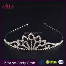 New Premium 2017 Princess Wedding Bridal Crystal Hair Headband Prom Cheap Tall Pageant Veil Crown Comb and Tiara Bridal