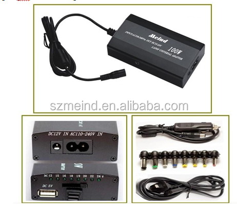 505A 100A/120W,Portable Universal laptop adaptor for car and home use