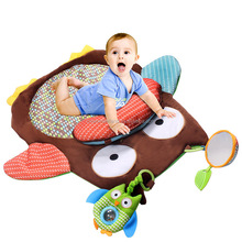 cute baby owl character creeping mat baby folding play mat
