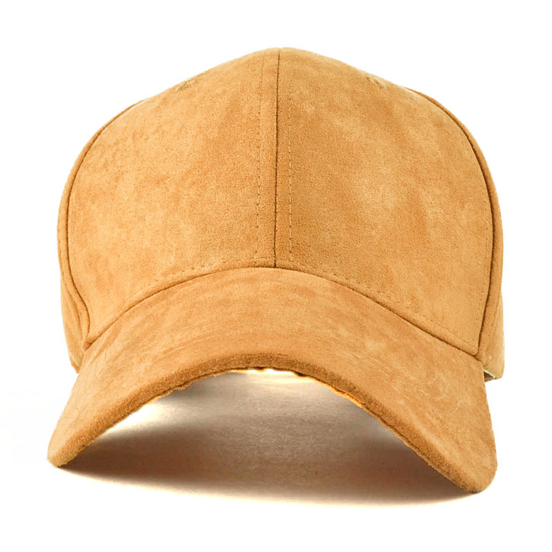 Wholesale price plain color word embroidered suede baseball caps sports trucker caps