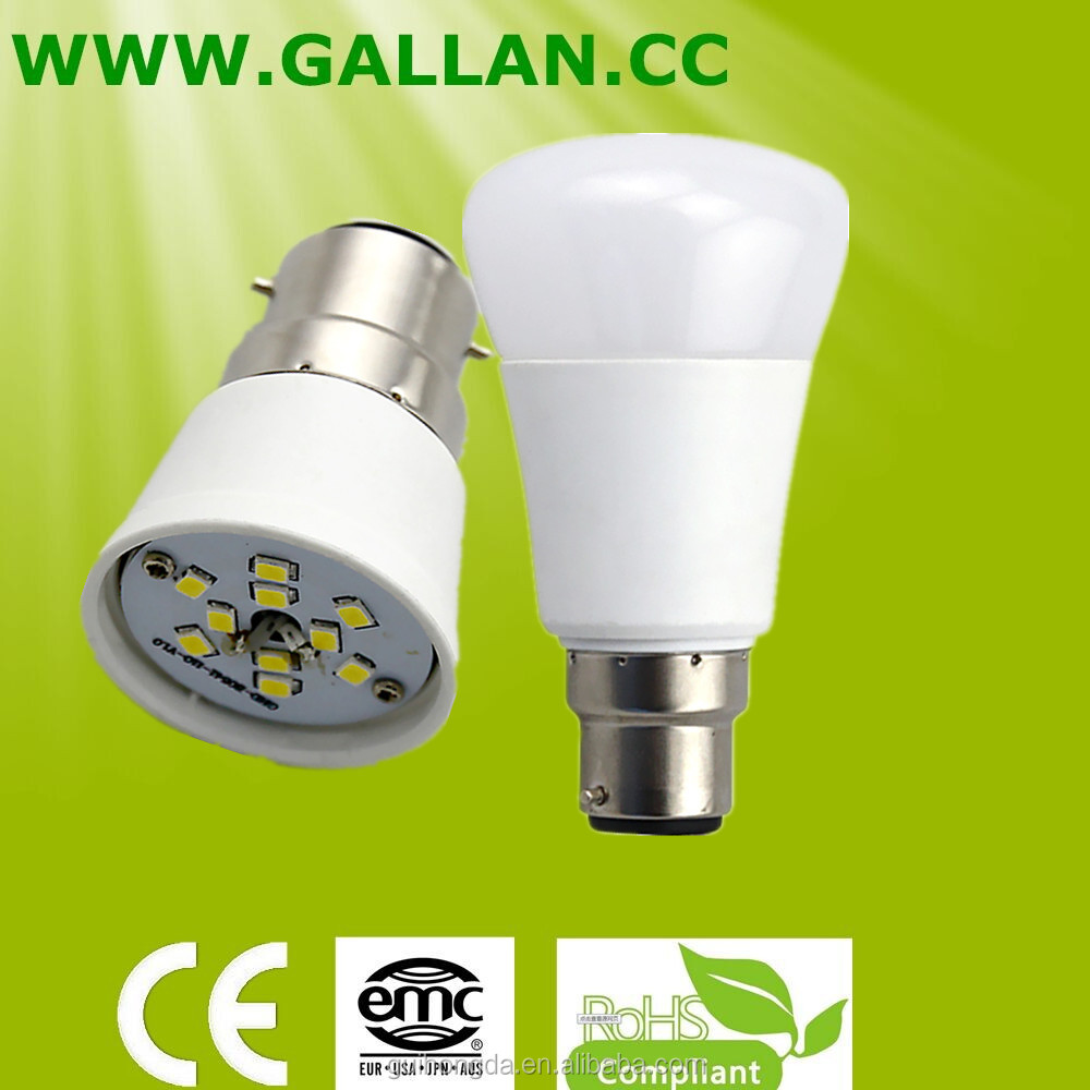 Popular 7w e27 b22 LED bulb with flat type PC cover and Aluminum Plastic Housing