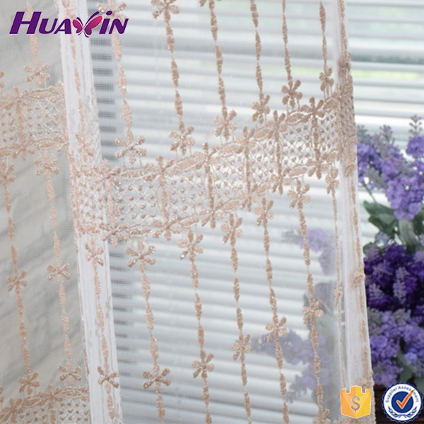 100% polyester Trustworthy China Supplier Jacquard Taffeta Lining Printed Voile Fabric Valance Window Curtain