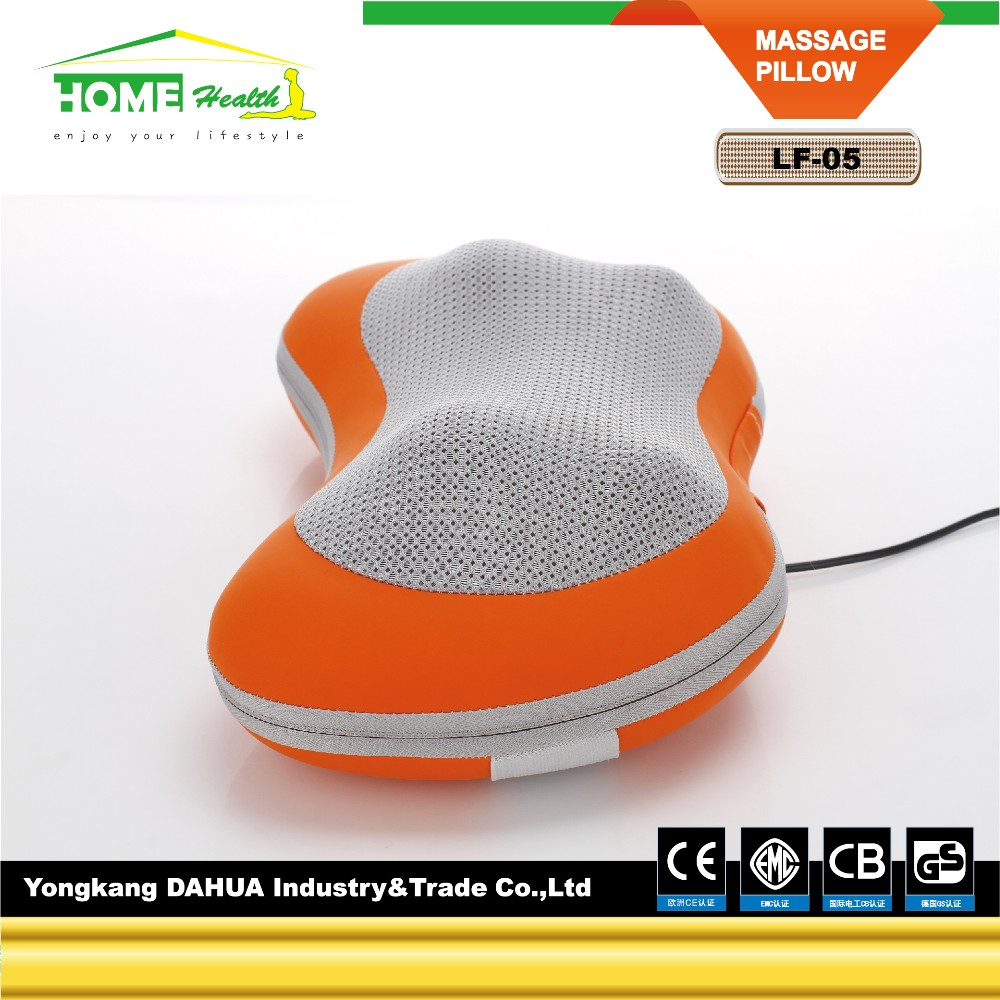 Neck Massage Pillow with 12V DC Power Supply and Built-in Heating/Kneading