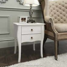 Modern french provincial wooden sofa end table with 2 drawers