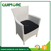 Nice design PE wicker furniture white rattan dining chair