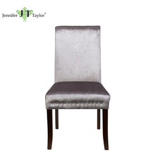 Wooden Fabric Nailhead Trim bar stool high chair