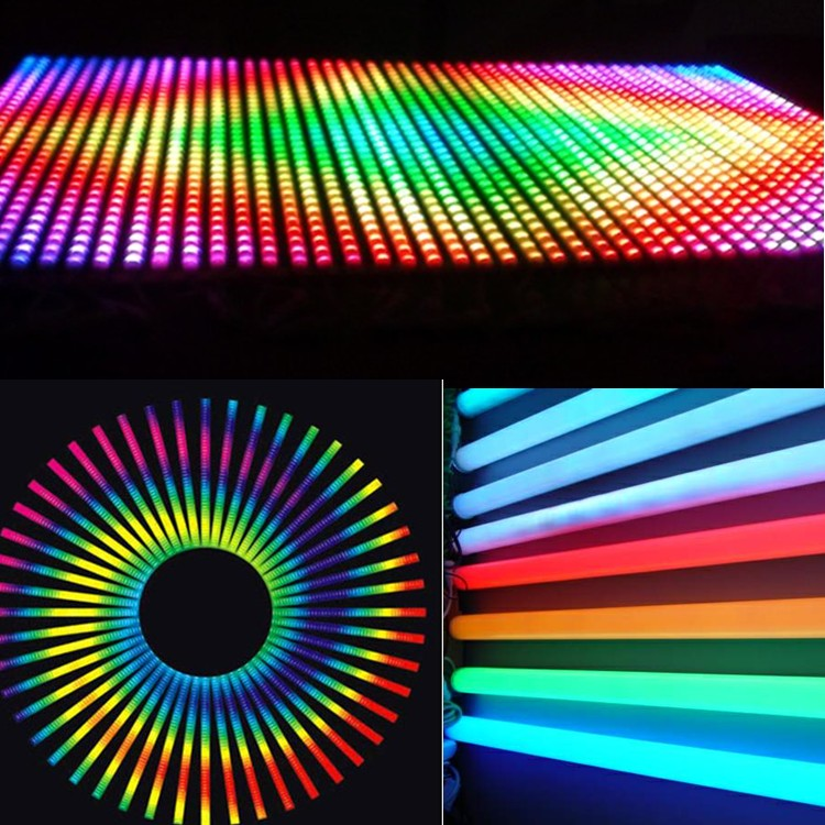 Waterproof DMX control 32 segments led color changing digital tube/led video tube