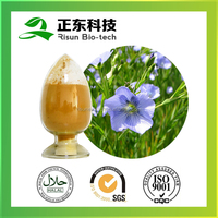 hot selling product flaxseed extract lignans 20% yellow-brown fine powder