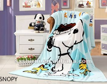 baby cartoon print coral fleece blanket
