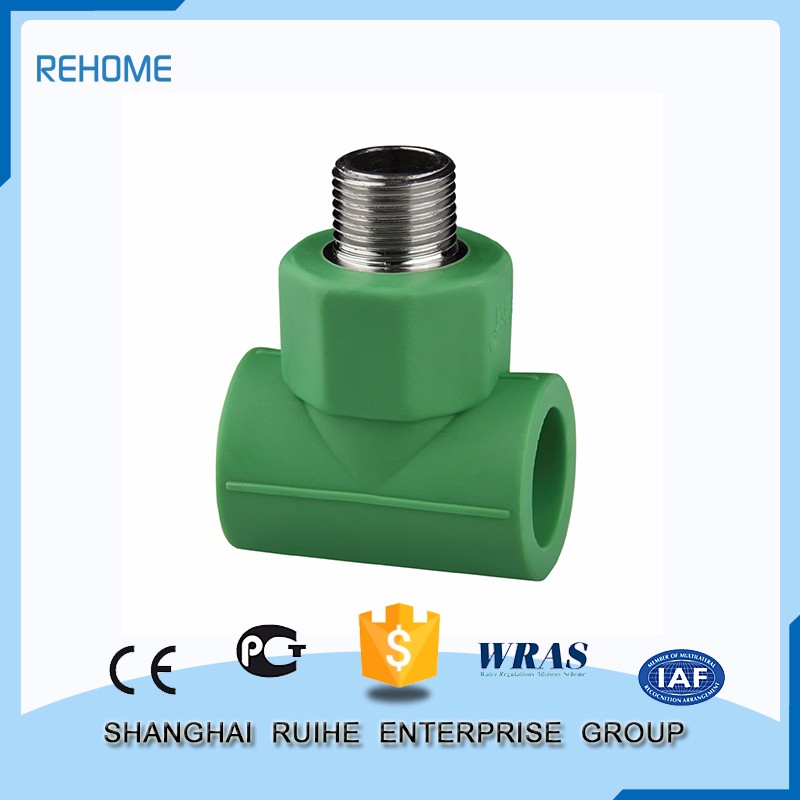 Cheap price Quick connect fitting Male Threaded Tee ppr pipe fitting upvc fittings