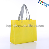 Wholesale simple pattern laminated non woven die cut bag ultrasonic shopping bag