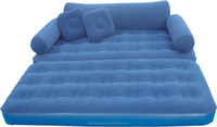 inflatable pvc flocked 3-in-1 Air Mattress & Chair & Sofa