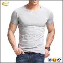 2017 NEW Fitting Men T Shirt 95 Cotton 5 Spandex Soft Short Sleeves Athletic Muscle Cotton T Shirts
