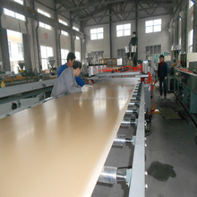 PVC WPC board machine with online lamination for making furniture panel
