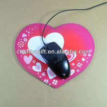 Customized Valentine's day gifts Heart-shaped EVA mouse pad , photo frame mouse mat