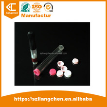 Wholesale Price OEM full form e-cigarette PVC plastic packing pipe with round plastic end caps 107